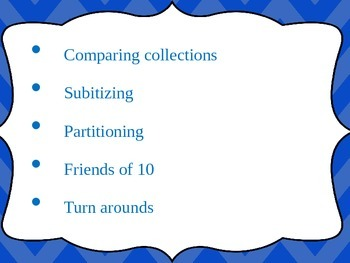 Maths Powerpoint-Collections,Subitising,Partitioning,Friends of 10, Turn Arounds