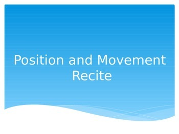Maths Powerpoint Warmup- Position & Movement Words- QLD font- K, Prep