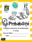 Maths Probabilités Évaluation 1er cycle
