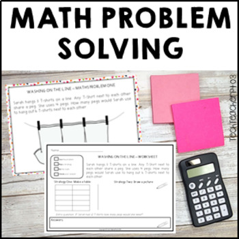 Math Problem Solving Slides, Sheets & Answers MaD T, Make a table & Draw it out