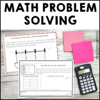 Math Problem Solving Activities By Tech Teacher Pto3 Tpt