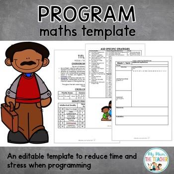 Maths Program Template - EDITABLE
