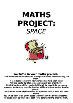 Maths Project- Space- Treasure Map