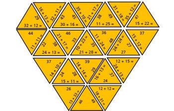 Maths Puzzles: Addition Tarsias