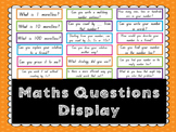 Maths Questions- Maths Wall Display