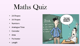 Maths Quiz/Game/PowerPoint on Time, Number, Area, Perimete