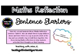 Maths Reflection Sentence Starters (FREEBIE)