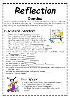 Maths Reflective Journal Upper Primary Semester 1