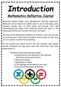 maths reflective journals upper primary bundle