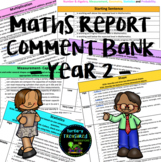 Maths Report Comment Bank - Year 2