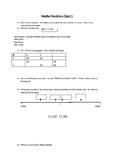 Maths Revision Homework Quiz 1