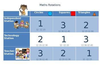 Maths Rotations display Editable