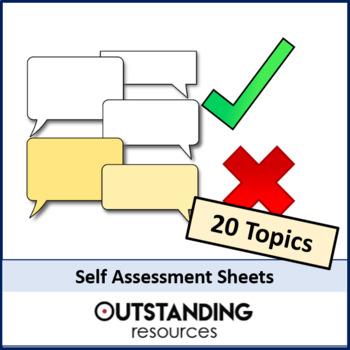 Maths: Self/ Peer Assessment Sheets (KS3 focus) - 20 major topics