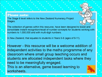 Maths - Stage 6 Numeracy Knowledge Support Games