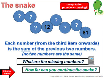 Maths Starters 5 (Powerpoint with answers) ... get thinking mathematically!