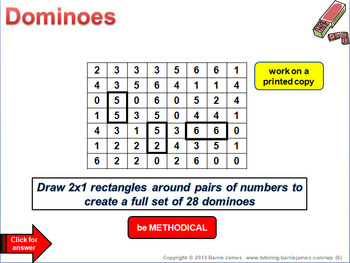 Maths Starters 6 (Powerpoint with answers) ... get thinking mathematically!