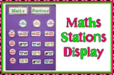 Maths Stations - Headings For Display
