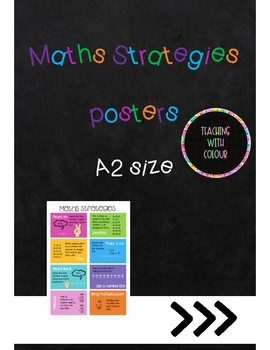Maths Strategies - A2 poster