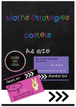 Maths Strategies - A4 posters