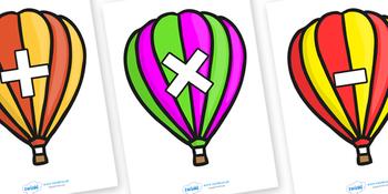 Maths Symbols On Balloons