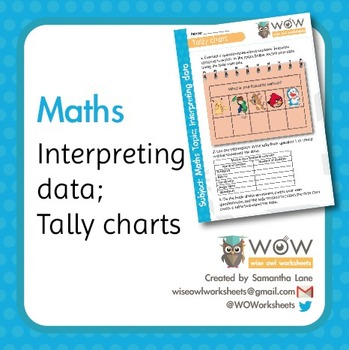 Maths Tally Charts - What is your favourite cartoon?
