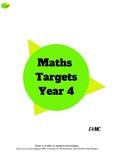 Maths Target Sheets - Year 4
