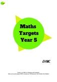 Maths Target Sheets - Year 5