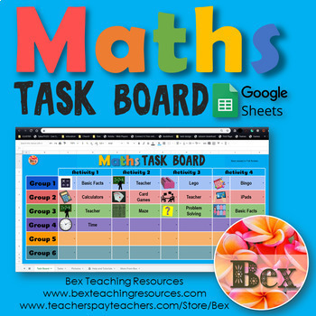 Maths Task Board - Google Sheets