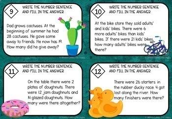 Maths Task Cards Bundle Australian Curriculum Year 2