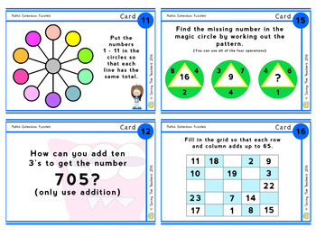 Maths Task Cards: Grades 5 and 6