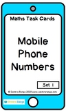 Maths Task Cards - Mobile Phone Numbers 01