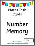 Maths Task Cards - Number Memory 01