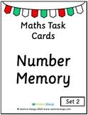 Maths Task Cards - Number Memory 02