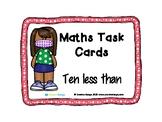 Maths Task Cards - Ten Less 02
