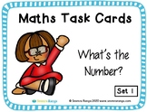 Maths Task Cards - What's the Number 01