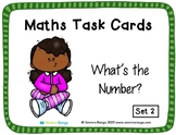 Maths Task Cards - What's the Number 02