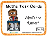 Maths Task Cards - What's the Number 03