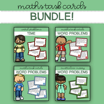 Maths Task Cards - Word Problems Bundle! (AU)