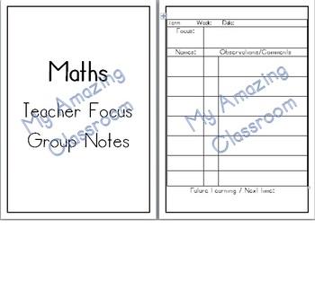 Maths Teacher Focus Group Notes