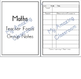 Maths Teacher Focus Group Notes