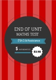 End of Unit Maths Test with Answers