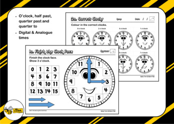 Maths Tests—All About Time Package