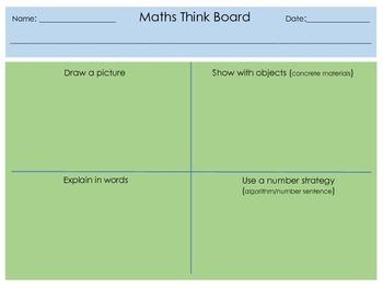 Maths Think Board