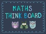 Maths Think Board