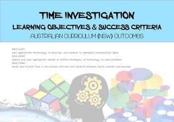 Maths Time Investigations Australian Curriculum