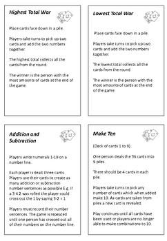 Maths Tool Kit - Playing Card Games