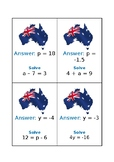 Maths Trail - Equations, 2 separate activities