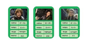 Maths Trump Cards: Lord of the Rings