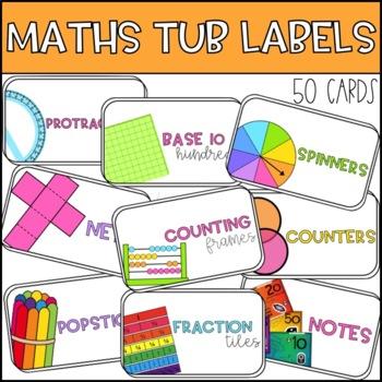Maths Tub Labels