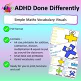 Maths Vocab Visuals [Addition, Subtraction, Division, Mult